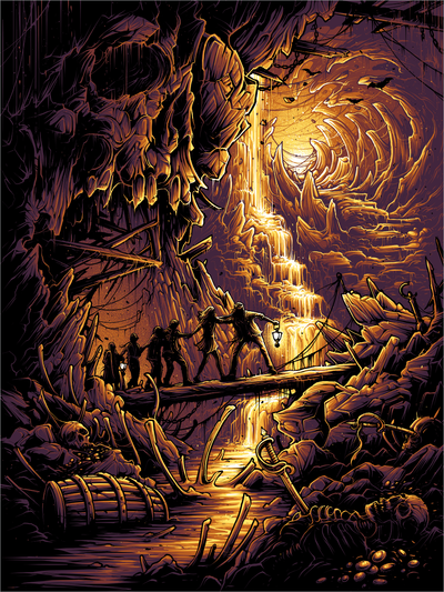 """Goonies never say die!"" by Dan Mumford"