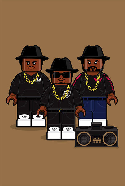"""LEGO Run-DMC"" Large by Dan Shearn - Hero Complex Gallery"