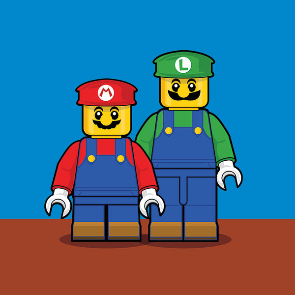 """LEGO Mario Bros"" by Dan Shearn - Hero Complex Gallery"
