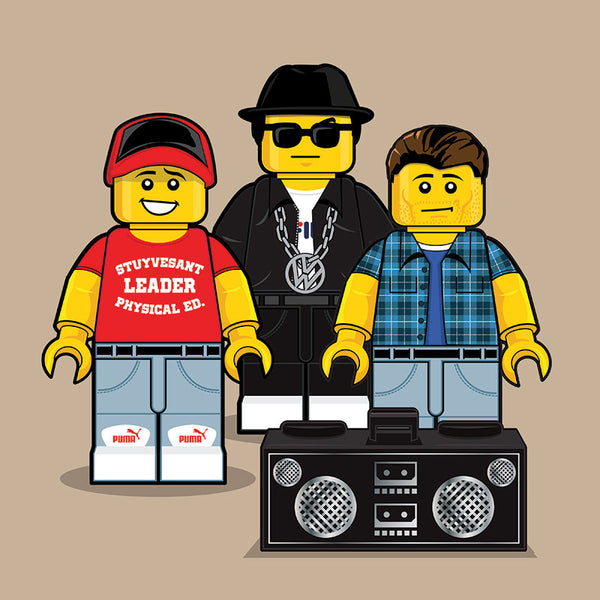 """LEGO Beastie Boys"" by Dan Shearn - Hero Complex Gallery"