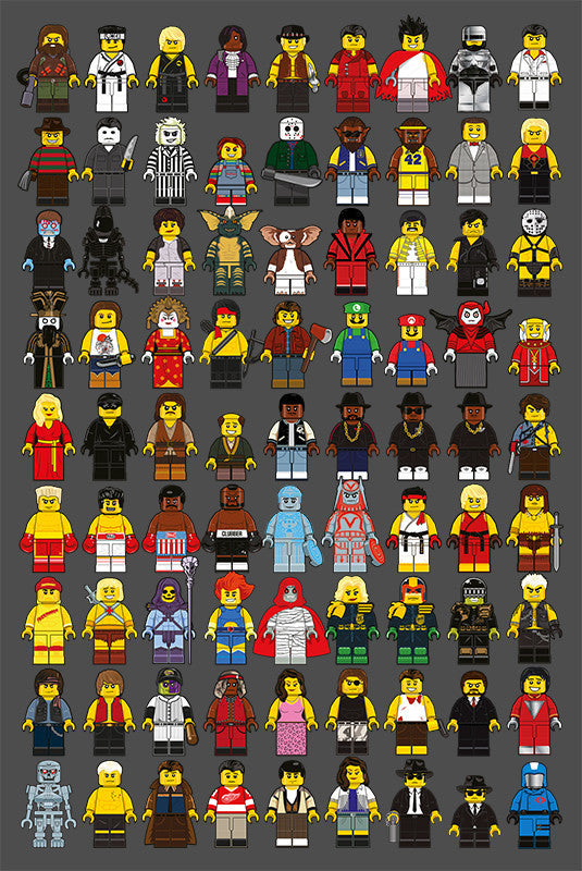 """LEGO Memories Compilation"" Artist Proof Large by Dan Shearn - Hero Complex Gallery"
