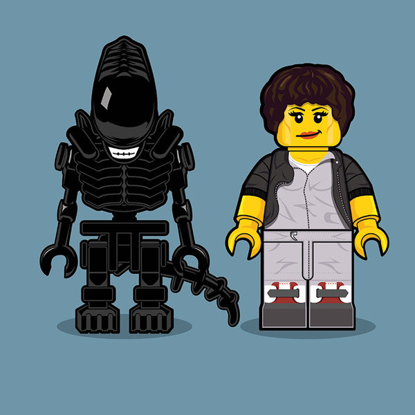 """LEGO Alien"" by Dan Shearn - Hero Complex Gallery"
