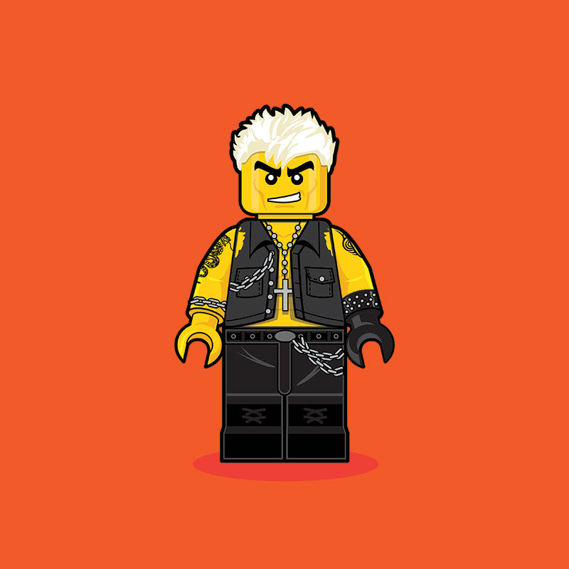"""LEGO Billy Idol"" by Dan Shearn - Hero Complex Gallery"