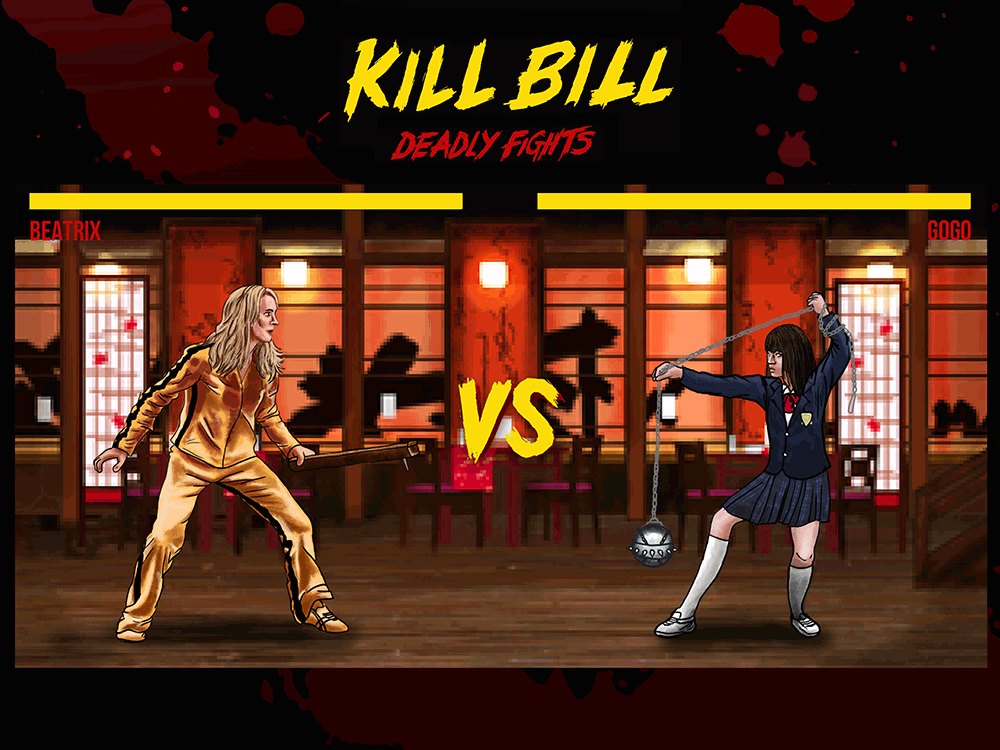 """Kill Bill Deadly Fights, House Of Blue Leaves"" by Daniel Nash - Hero Complex Gallery"