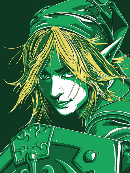 """Zelda - Link"" by The Dark Inker - Hero Complex Gallery"