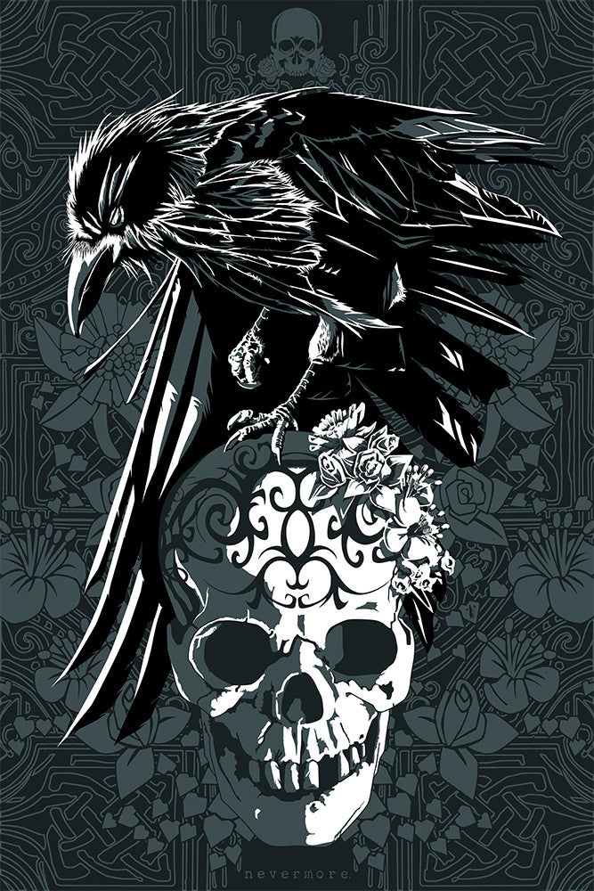 """Nevermore"" by The Dark Inker $35.00 - Hero Complex Gallery"