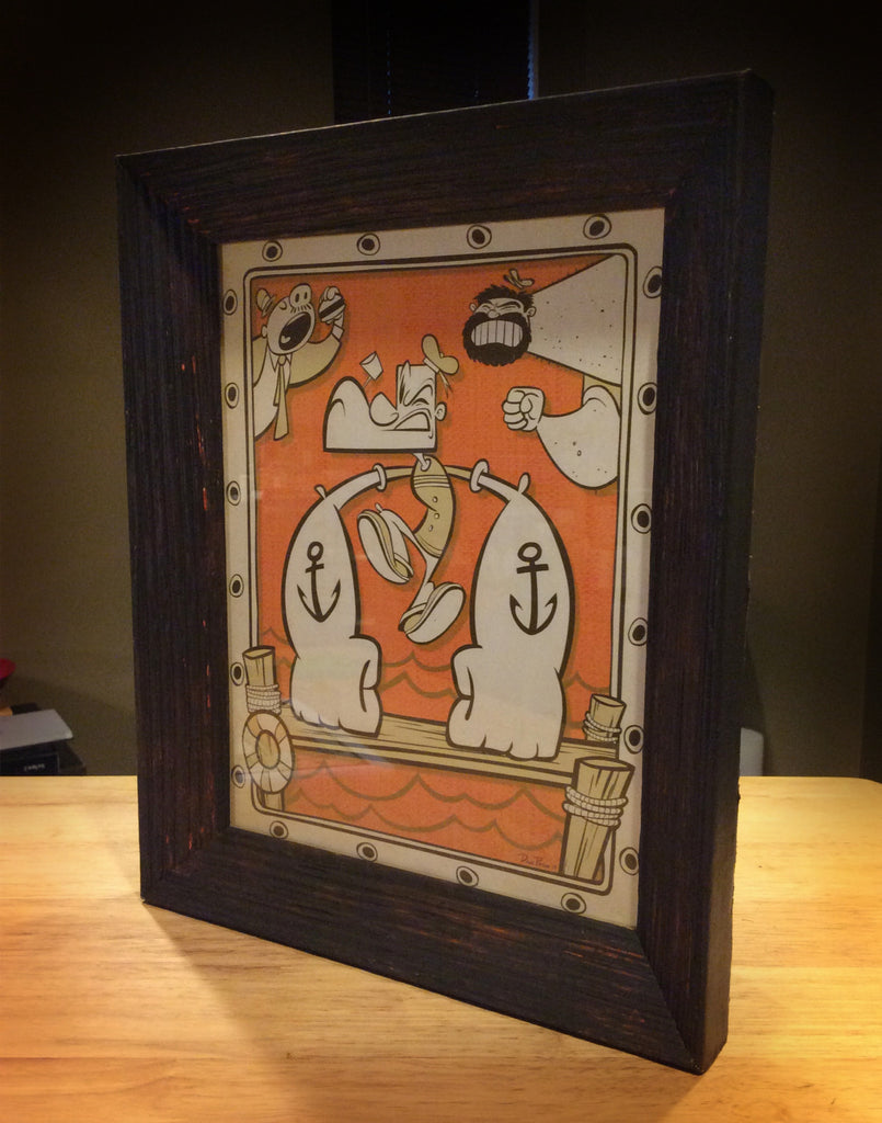 """Burgers, Bruisers and Brawn"" Framed by Dave Pryor - Hero Complex Gallery  - 1"