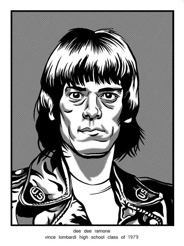 """Dee Dee Ramone Vince Lombardi High School Class of 1979"" by Brian Crabaugh - Hero Complex Gallery"