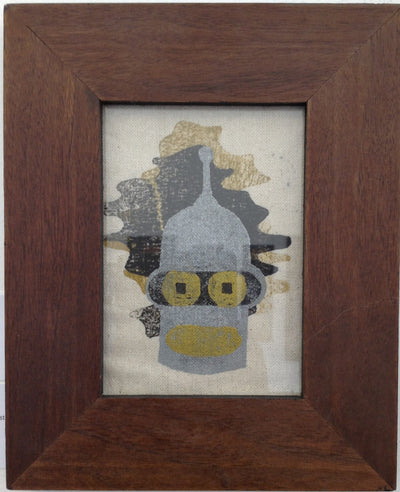 """Bender"" Gold Framed - by Derek Eads - Hero Complex Gallery  - 1"