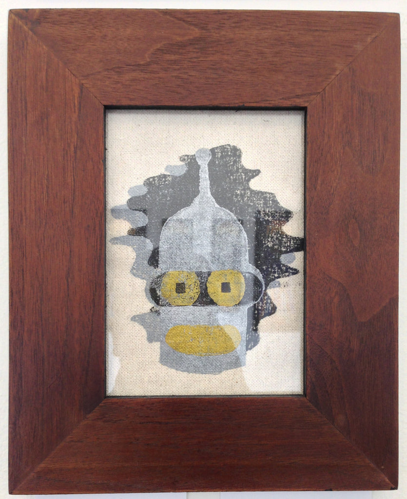 """Bender"" Silver Framed - by Derek Eads - Hero Complex Gallery  - 1"