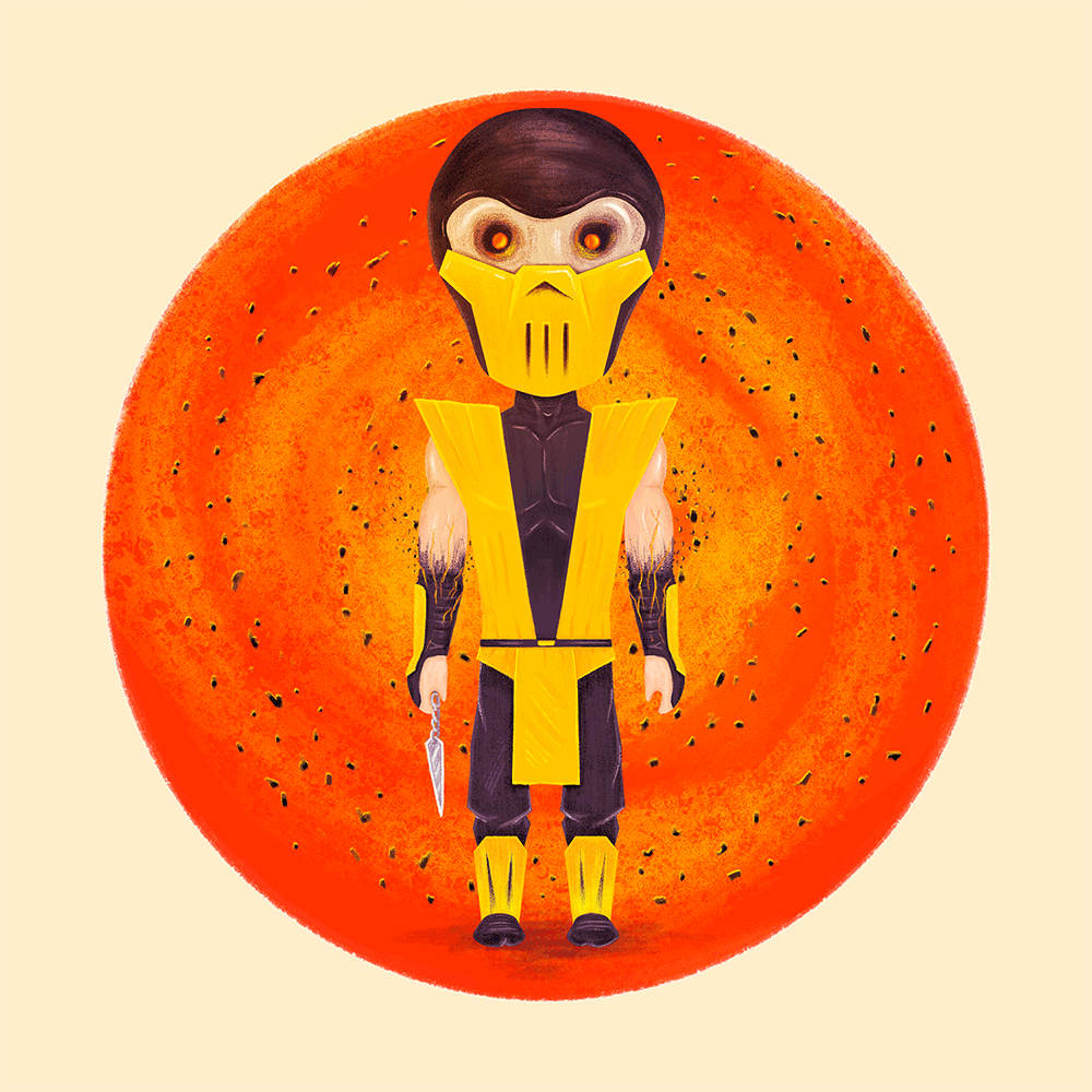 """MK Ninjas: Scorpion"" by Doaly - Hero Complex Gallery"