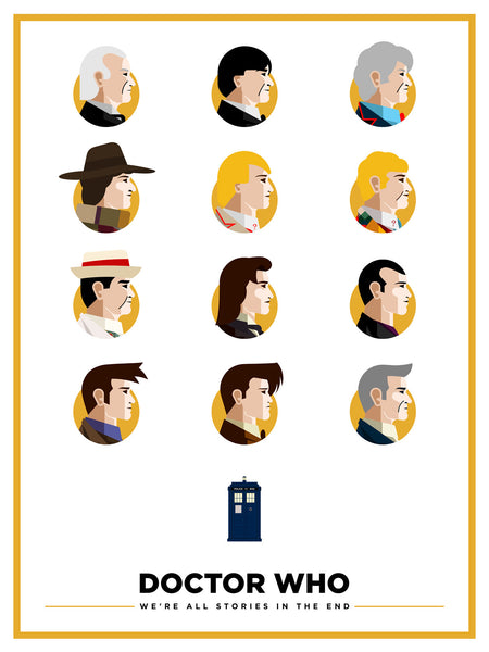 """Doctor Who — A Visual Recap"" by Salvador Anguiano - Hero Complex Gallery"