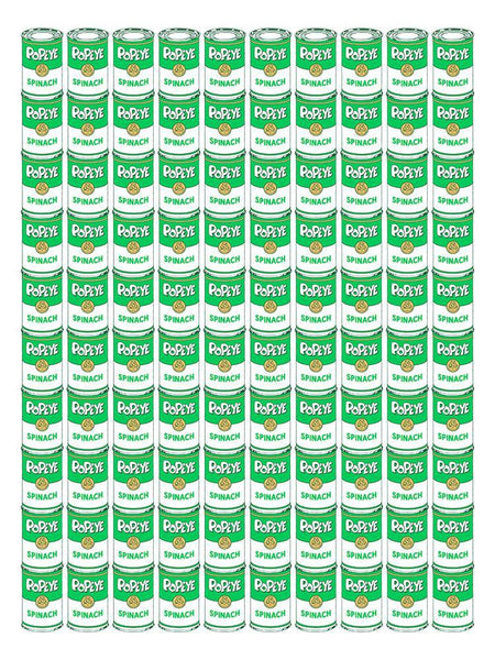 """100 Spinach Cans"" by Drew Wise - Hero Complex Gallery"