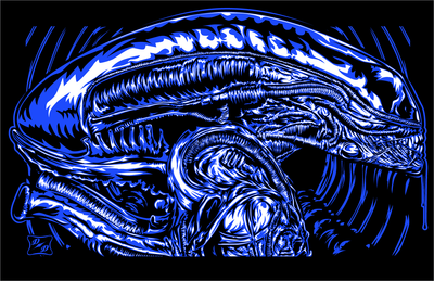 """Xenomorph"" Original by Duke Duel"