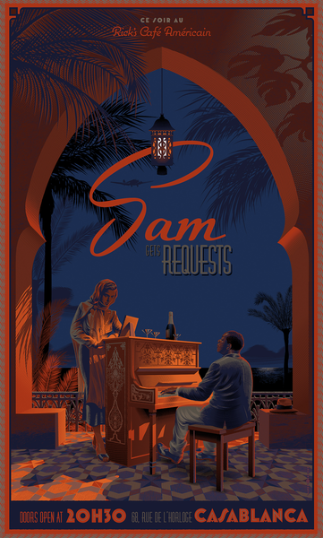 """Sam Gets Requests"" Wood Variant by Laurent Durieux"