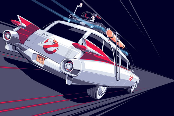 """Ecto-1"" Illuminated Variant by Craig Drake - Hero Complex Gallery"