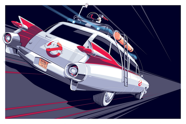 """Ecto-1"" by Craig Drake - Hero Complex Gallery"