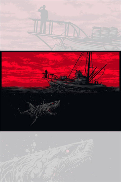 """Gone Fishing"" Widescreen Variant by Dan Mumford"