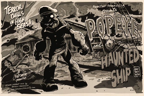 """Popeye and the Haunted Ship"" by Francesco Francavilla - Hero Complex Gallery"