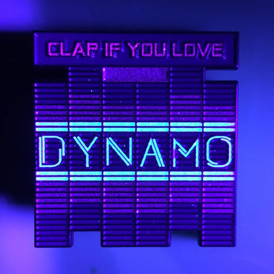 """Dynamo"" Glow in the Dark Pin by Chris Garofalo"