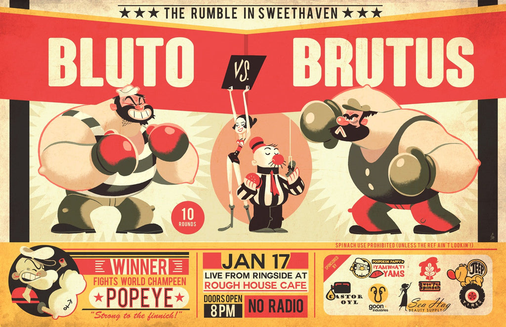 """Bluto vs Brutus"" by Glen Brogan - Hero Complex Gallery  - 1"