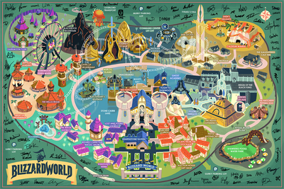 """BlizzardWorld"" Large Variant (Signed by Dev Team) by Glen Brogan - Hero Complex Gallery"