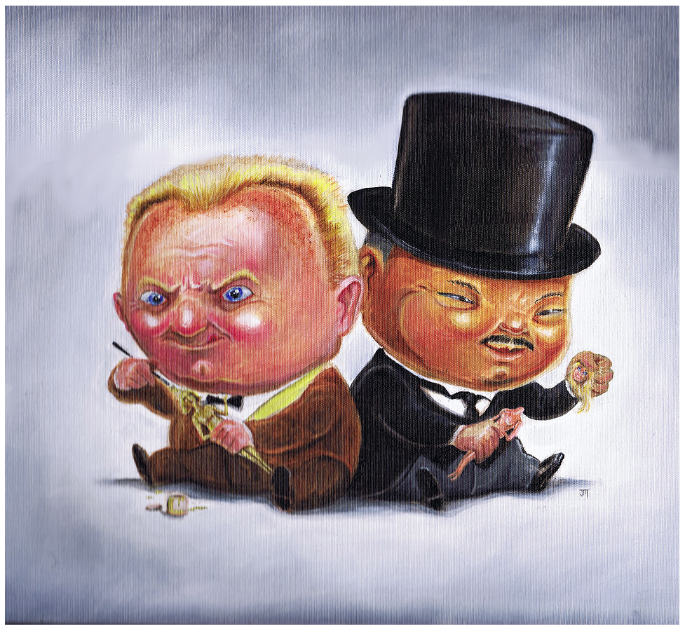 """Goldfinger and Oddjob"" by Jordan Monsell - Hero Complex Gallery"