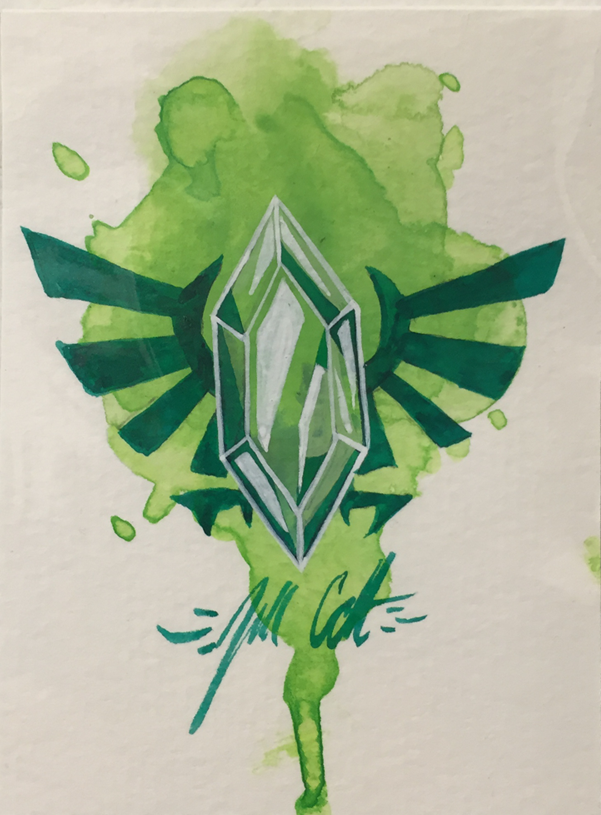 """Green Rupee"" by Jill Colbert-Manfish Inc. - Hero Complex Gallery"