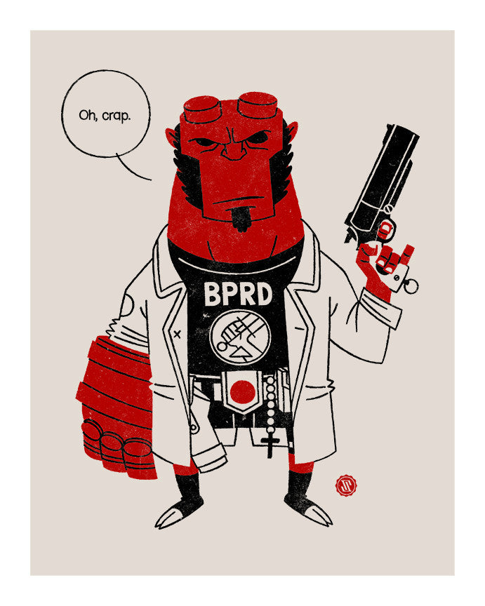 """Hellboy"" by Greg Storey $100.00 - Hero Complex Gallery"
