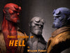 """Hellboy Blue"" by William Paquet $450.00 SOLD OUT - Hero Complex Gallery  - 4"