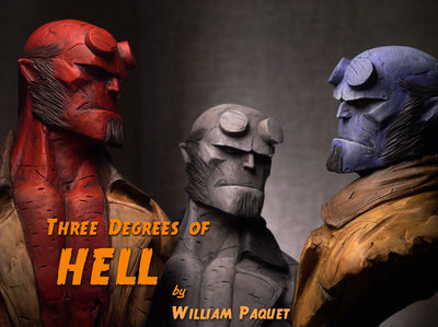 """Hellboy Red"" by William Paquet $450.00 - SOLD OUT - Hero Complex Gallery  - 2"
