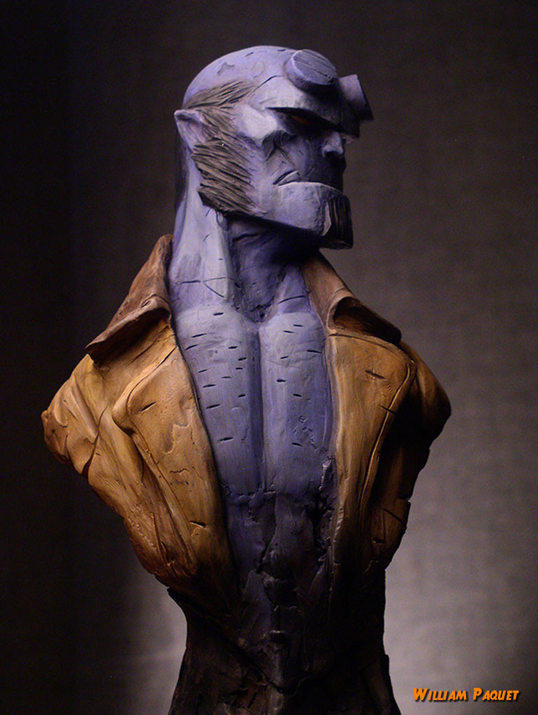 """Hellboy Blue"" by William Paquet $450.00 SOLD OUT"