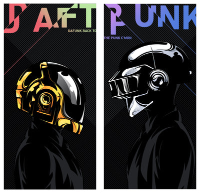 """Daftendirekt — Thomas and Guy Manuel"" (Daft Punk) by Salvador Anguiano - Hero Complex Gallery  - 1"