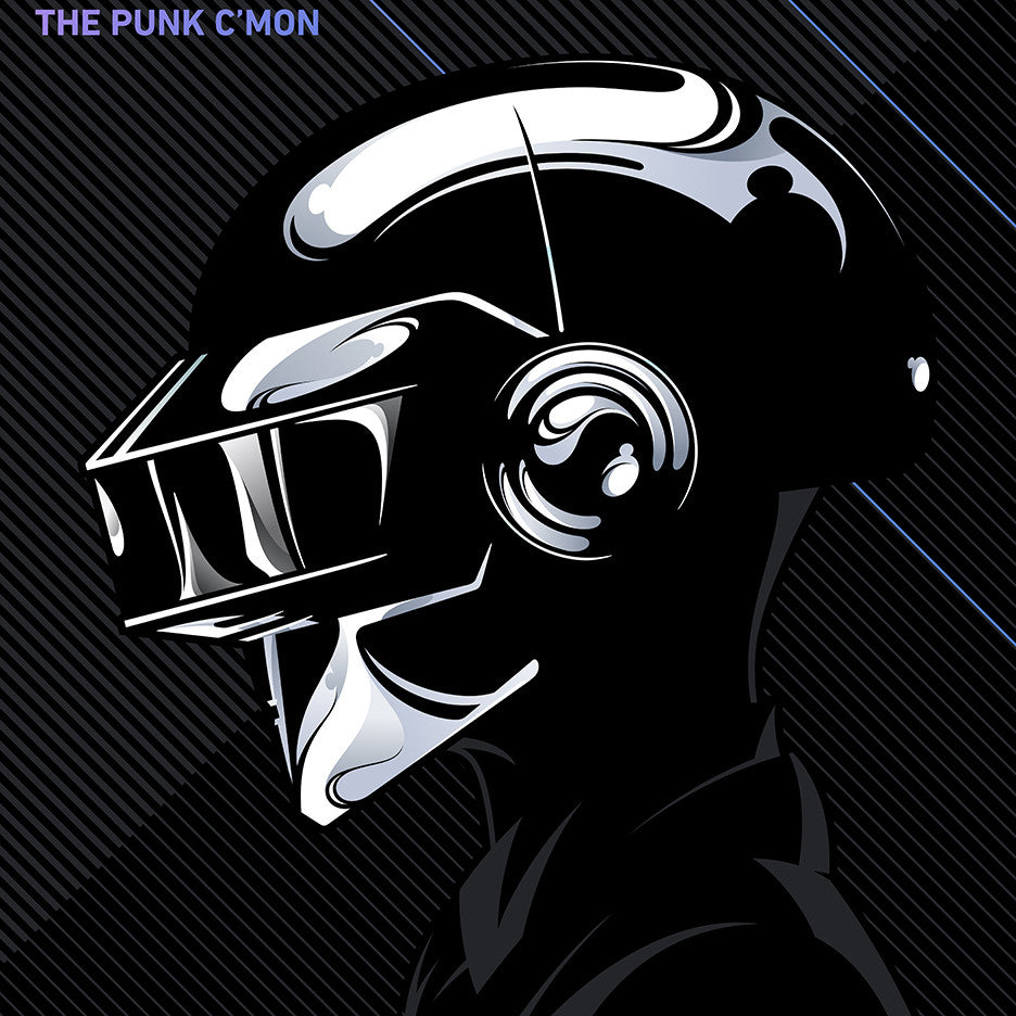 """Daftendirekt — Thomas and Guy Manuel"" (Daft Punk) by Salvador Anguiano - Hero Complex Gallery  - 3"