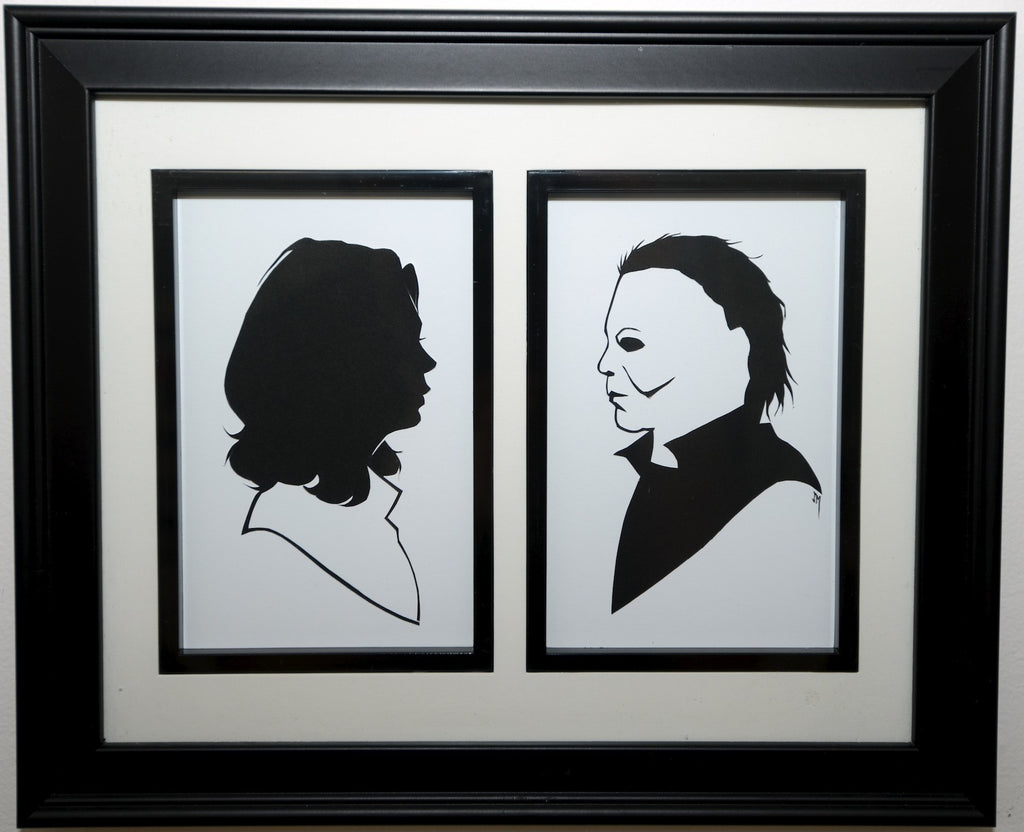 "14.  ""Michael Myers and Laurie Strode"" by Jordan Monsell - Hero Complex Gallery"