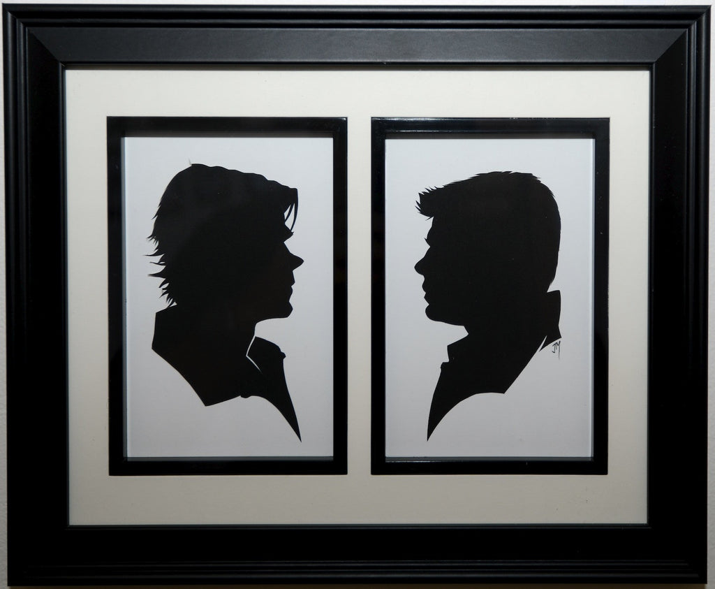 "166.  ""Sam and Dean Winchester (Supernatural)"" by Jordan Monsell - Hero Complex Gallery"
