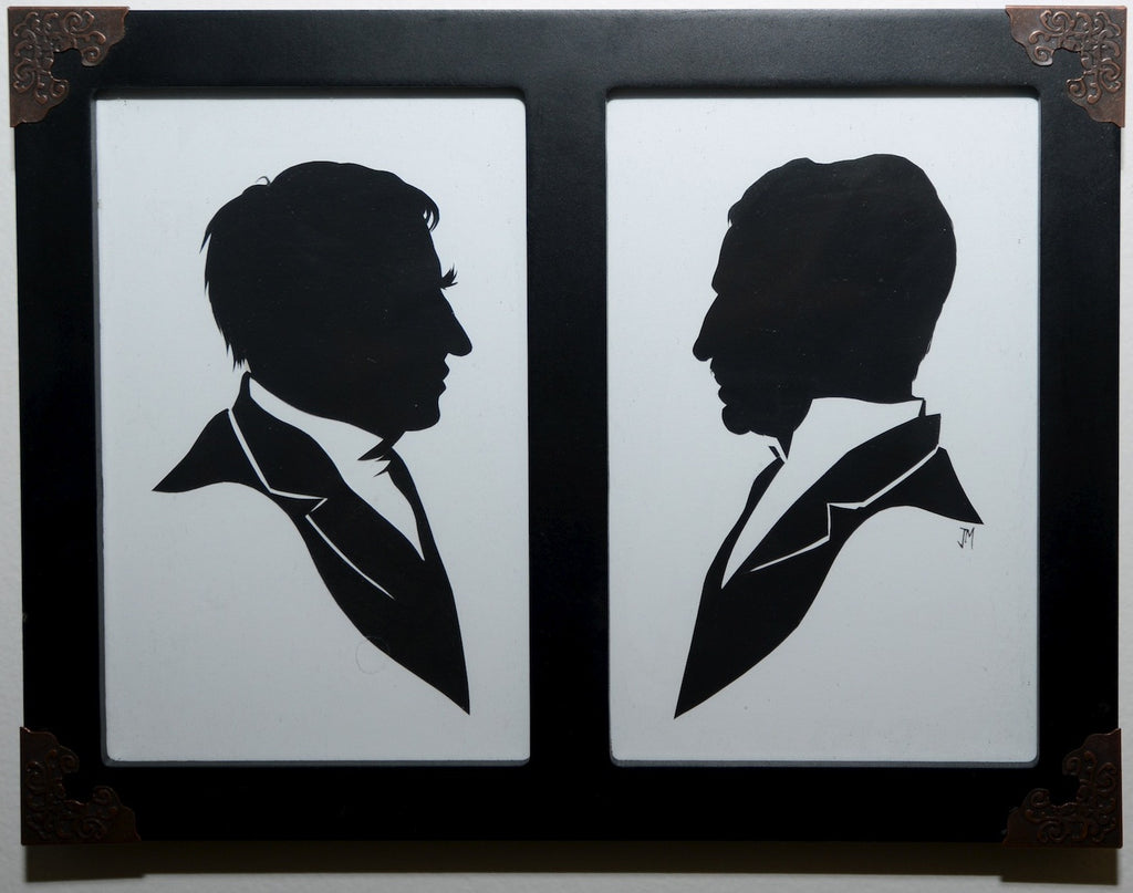 "225.  ""Thomas Edison and Nikola Tesla (Set)"" by Jordan Monsell"