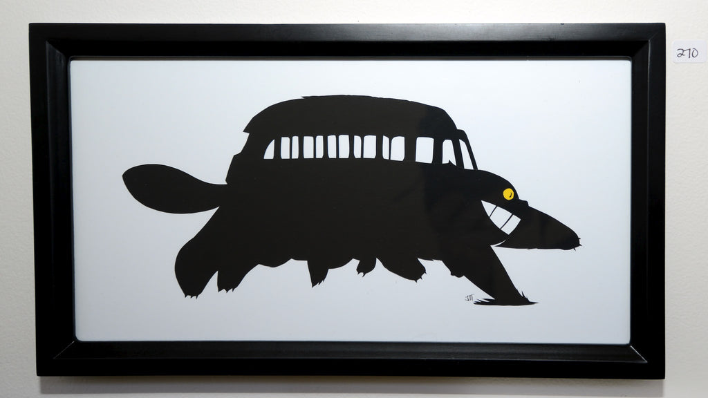 "270.  ""Catbus (My Neighbor Totoro)"" by Jordan Monsell - Hero Complex Gallery"