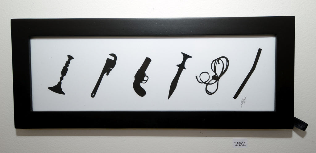 "282.  ""CLUE weapons"" by Jordan Monsell - Hero Complex Gallery"