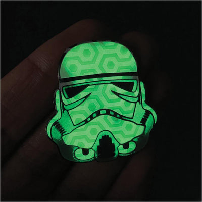 "622. ""Trooper"" GID Pin by Hellraiser Designs"