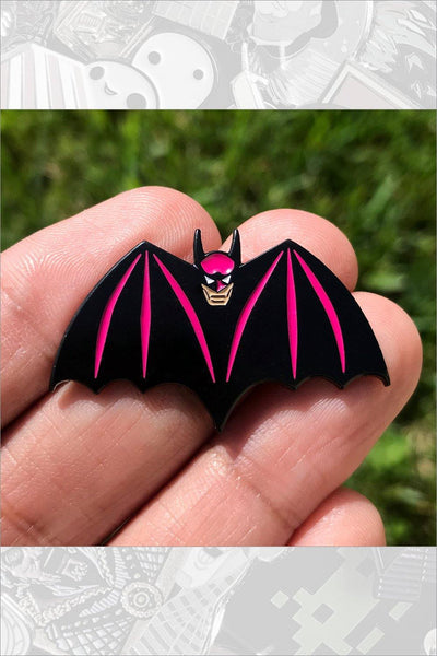 "590. ""Batman"" Pink Pin by Hellraiser Designs"