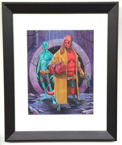 """Hellboy"" by Cuyler Smith $450.00 - SOLD OUT - Hero Complex Gallery  - 1"