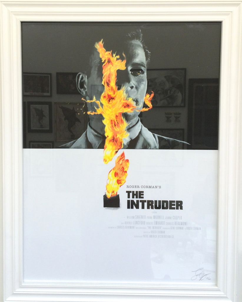 """The Intruder"" Framed by Fernando Reza $90.00 - SOLD OUT - Hero Complex Gallery"