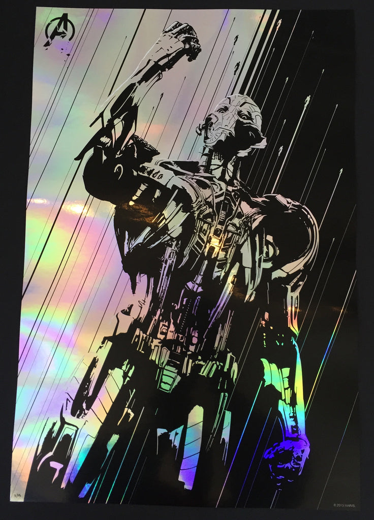 """Age of Ultron"" Silver Foil by Oli Riches - Hero Complex Gallery  - 1"