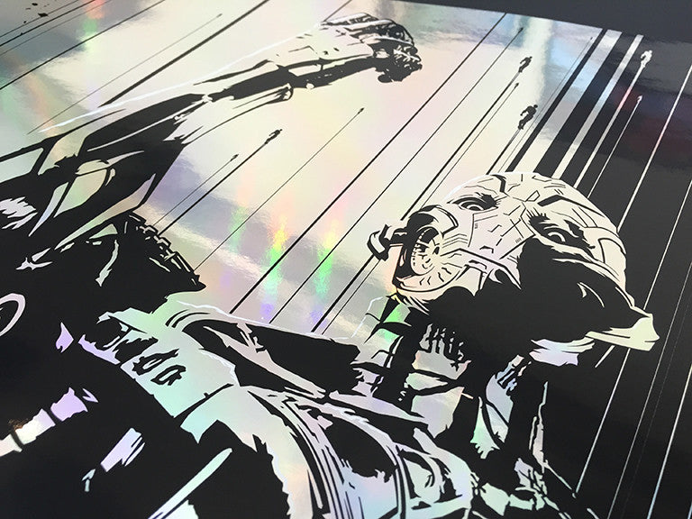 """Age of Ultron"" Silver Foil by Oli Riches - Hero Complex Gallery  - 2"