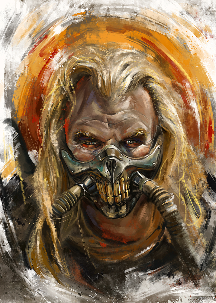 """Immortan Joe"" Mini Print by Robert Bruno"