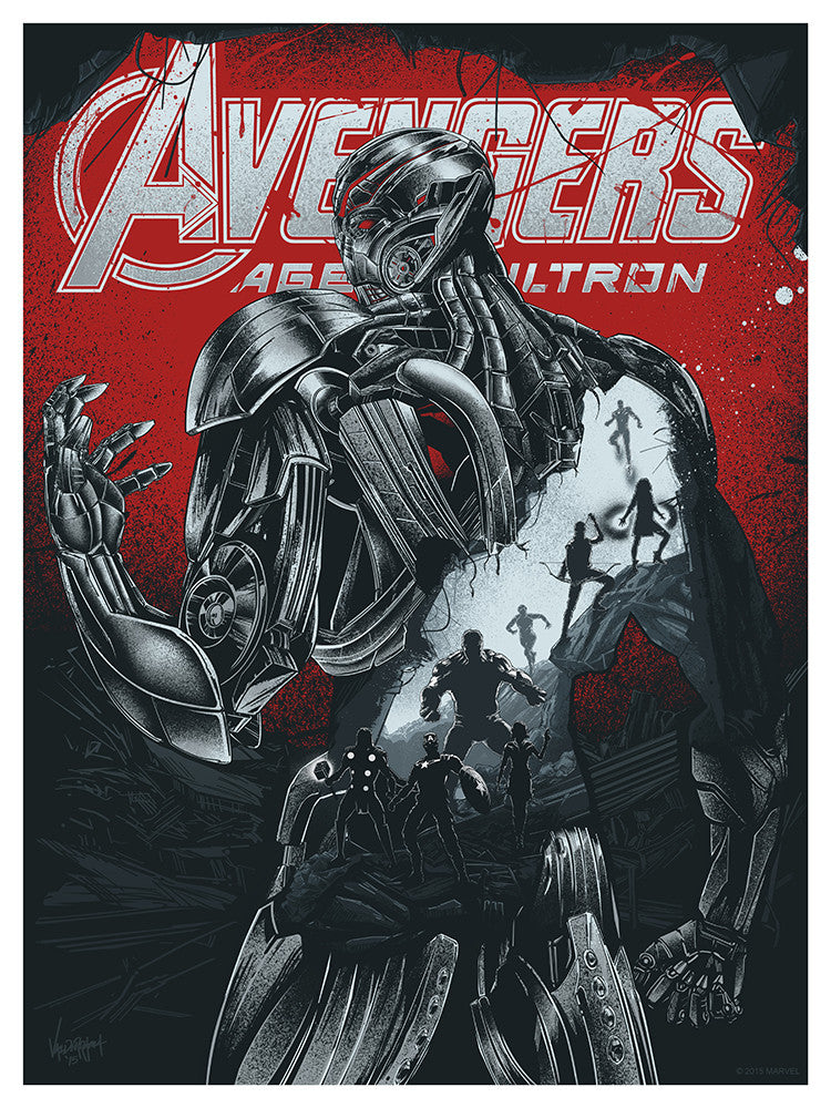 """Avengers: Age of Ultron"" Metallic Variant by JP Valderrama - Hero Complex Gallery"