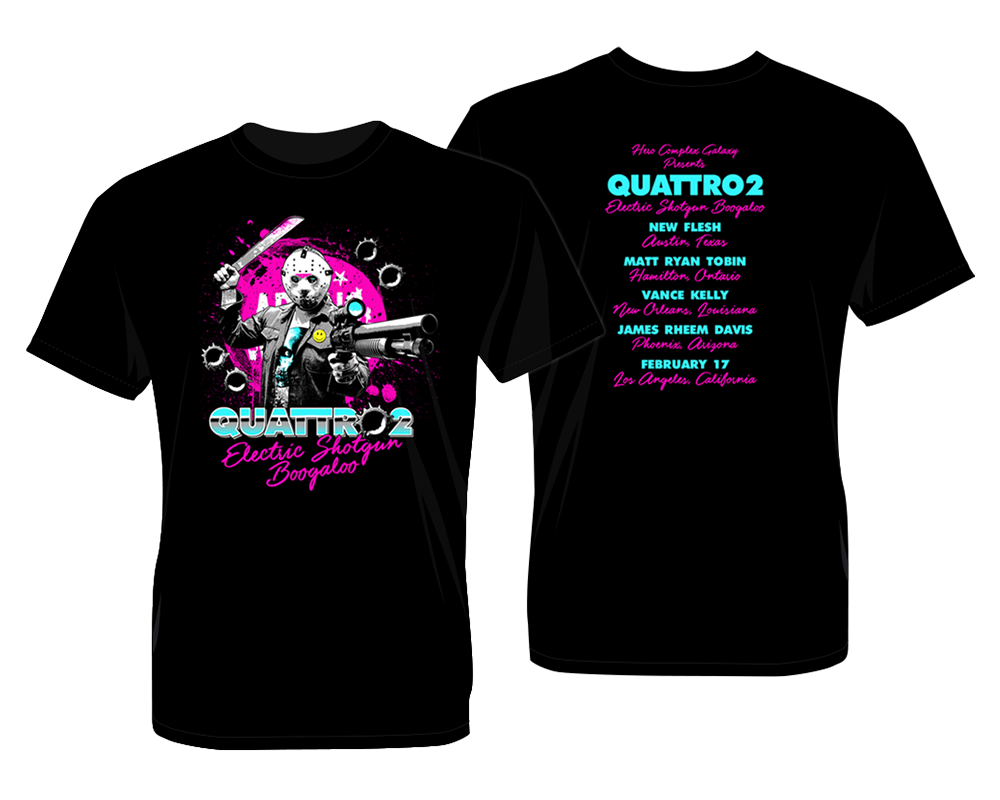 Quattro 2: Electric Shotgun Boogaloo Tee by James Rheem Davis - Hero Complex Gallery  - 2