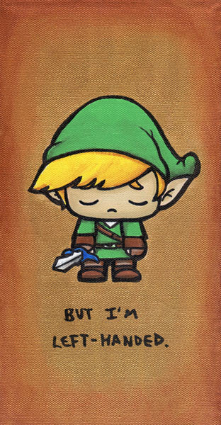 """Super Emo Link: Skywud Sowd"" by JSalvador $300.00 - SOLD OUT - Hero Complex Gallery"