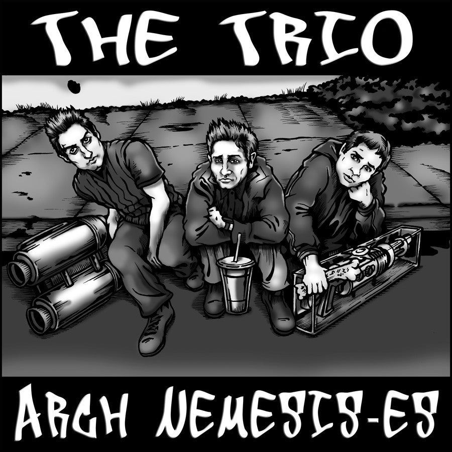 """The Trio - Arch Nemesis-es (Sunnydale Records)"" Framed by Jason Brown $65.00 - Hero Complex Gallery"